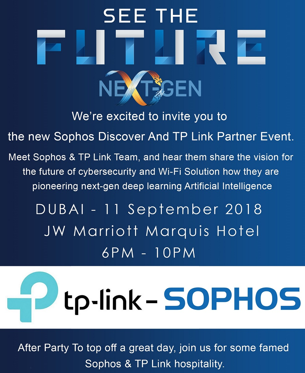 Sophos and TP-Link Partners Event
