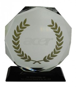 Acer most Improved Channel of the Year