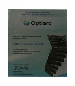 Authorized Partner of Sony NEC Optiarc Europe GMBH