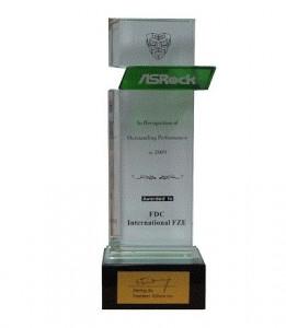 Outstanding Performance in 2009 Asrock