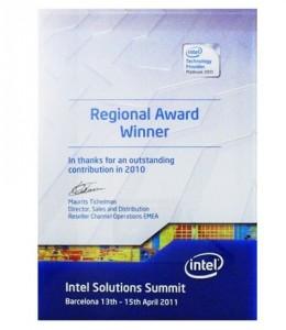 intel Regional Award Winner 2010